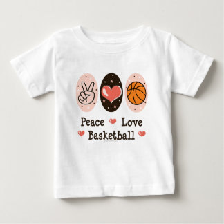 Camiseta del bebé del baloncesto del amor de la playera