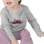 Camiseta del bebé del barco del fuego