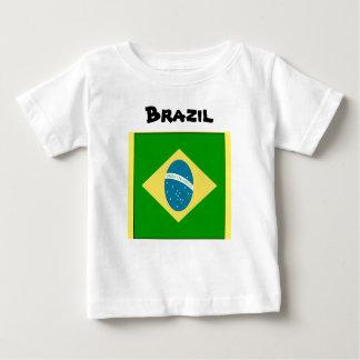 Camiseta del bebé del Brasil Playeras