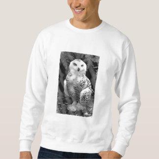 Camiseta del bebé del búho de la nieve