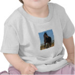Camiseta del bebé del caballo de bahía