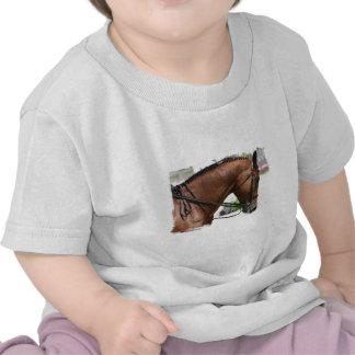 Camiseta del bebé del caballo del Dressage