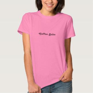 Camiseta del bebé del café playeras