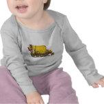 Camiseta del bebé del camión del mezclador de ceme