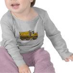 Camiseta del bebé del camión volquete de la carret