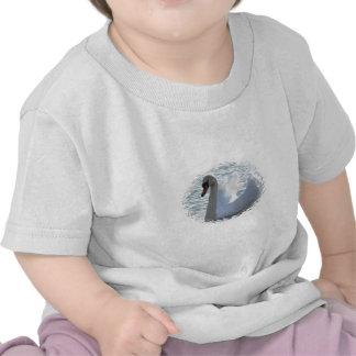 Camiseta del bebé del cisne de la trompeta