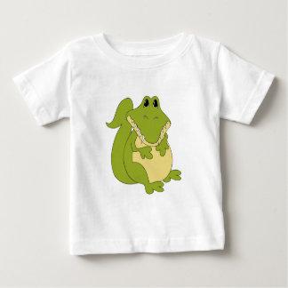 Camiseta del bebé del cocodrilo del dibujo animado polera