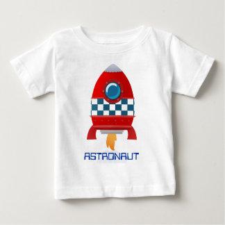 Camiseta del bebé del cohete de espacio