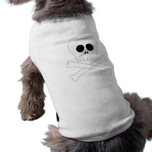 Camiseta del bebé del cráneo ropa perro