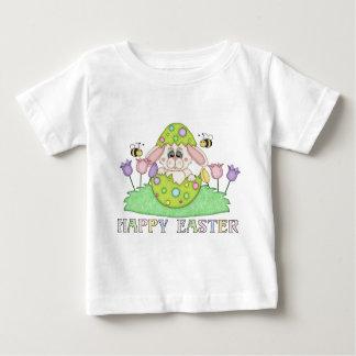 Camiseta del bebé del día de fiesta del conejito