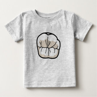Camiseta del bebé del diente