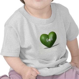 Camiseta del bebé del diseño del amante del golf