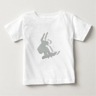 Camiseta del bebé del diseño del logotipo de la playera