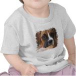 Camiseta del bebé del diseño del perro del