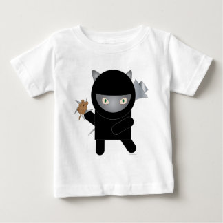 camiseta del bebé del gatito del ninja playeras