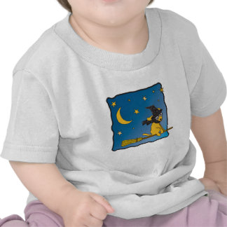 Camiseta del bebé del golden retriever de Witchie