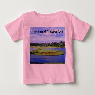Camiseta del bebé del golf