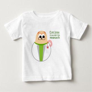 Camiseta del bebé del investigador del laboratorio
