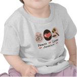 Camiseta del bebé del juez de la justicia del amor