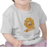 Camiseta del bebé del león del dibujo animado