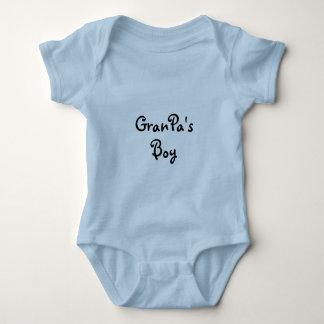 Camiseta del bebé del muchacho del abuelo playera