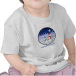 Camiseta del bebé del muñeco de nieve de Navidad