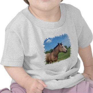 Camiseta del bebé del mustango del ante
