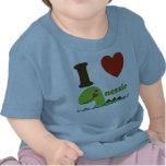 Camiseta del bebé del Nessie del corazón del monst