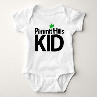Camiseta del bebé del niño de las colinas de