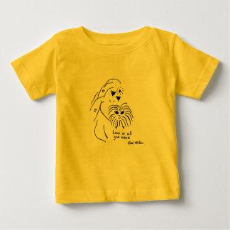 Camiseta del bebé/del niño del amor del conejillo polera