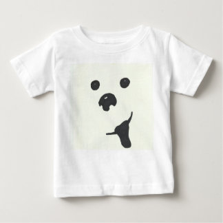 "Camiseta del bebé del ""perrito feliz"" playera"
