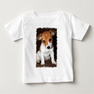 Camiseta del bebé del perro de perrito de Jack Poleras