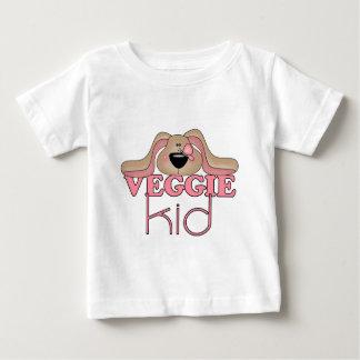Camiseta del bebé del perro del niño del Veggie