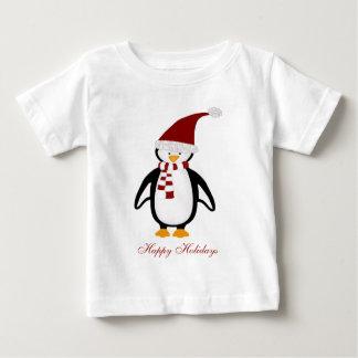 Camiseta del bebé del pingüino del navidad playeras