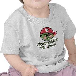 Camiseta del bebé del pirata del guisante