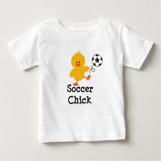 Camiseta del bebé del polluelo del fútbol