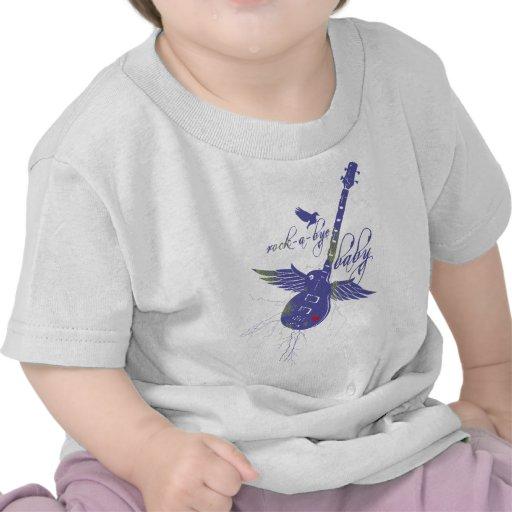 camiseta del bebé del roca-uno-adiós