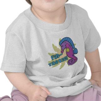 Camiseta del bebé del Seahorse de la Aleta-Tastic