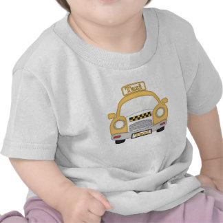 Camiseta del bebé del taxi