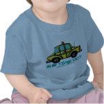 Camiseta del bebé del taxi del inspector de NYC