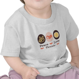 Camiseta del bebé del tenis del amor de la paz
