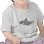 Camiseta del bebé del tiburón