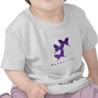 Camiseta del bebé del trío de la mariposa