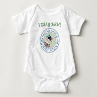 Camiseta del bebé del vegano remeras