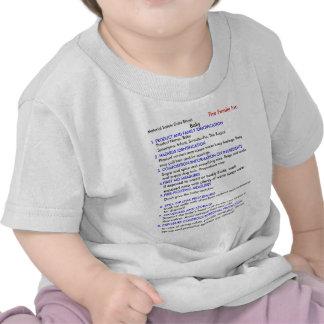 Camiseta del bebé MSDS