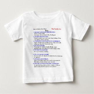 Camiseta del bebé MSDS Playeras