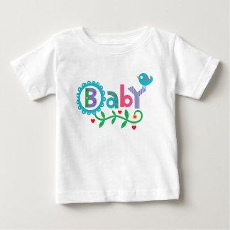 Camiseta del bebé y del pájaro polera