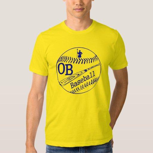 Camiseta del béisbol de la rama de olivo remeras