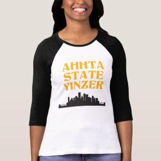 Camiseta del béisbol de las mujeres de Yinzer del Remera