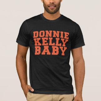 Camiseta del béisbol del naranja y del negro de